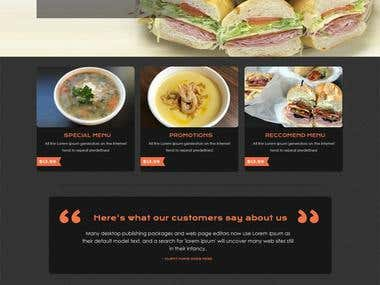 PSD TO WORDPRESS (Restaurant website )