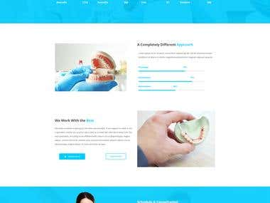Dental One Page PSD Template