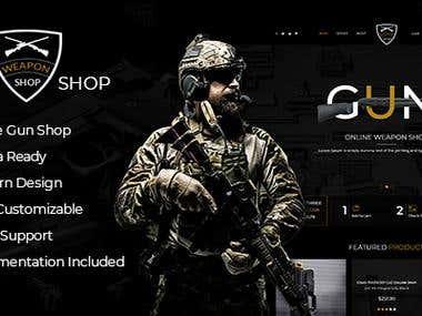 Gun Store PSD Template
