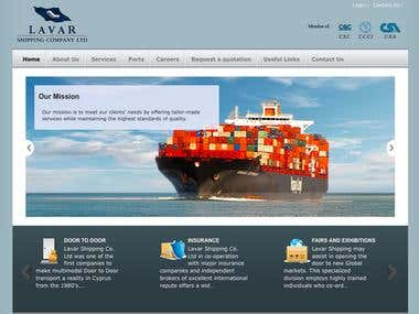 Website for shipping Company