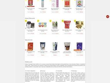 Ecommerce website (https://www.ondoor.com/)
