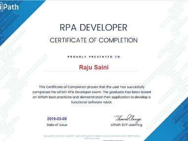 UiPath RPA Developer Advance Certification