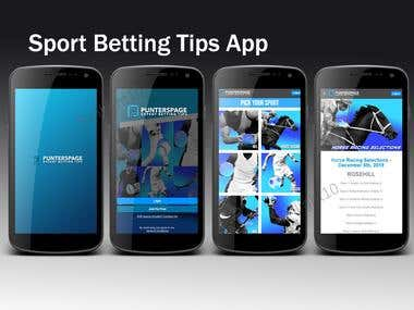 Sport Betting Tips App - Punters Page