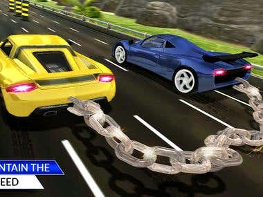 Chained Cars Rival Racing Impossible Stunt Driving