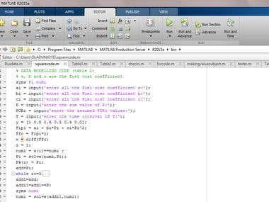 MATLAB and EUREQA softwares