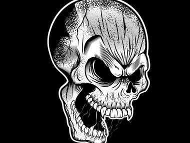 T-Shirt Skull Hardcore