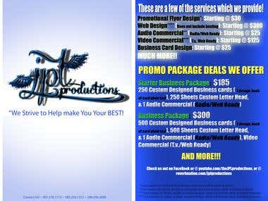 J.P.L. Productions- We offer great deals!