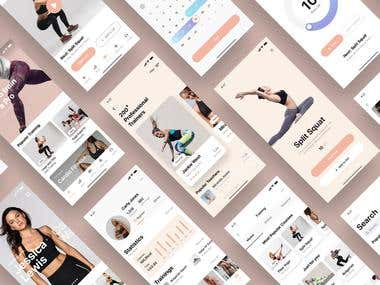 Fitness mobile Application UI design