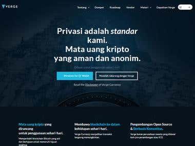 Website Translation: Verge Currency
