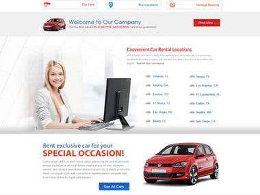 website mock up design psd
