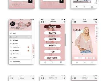 """""""Karoline"""" Android and IOS Shop Mobile app"""
