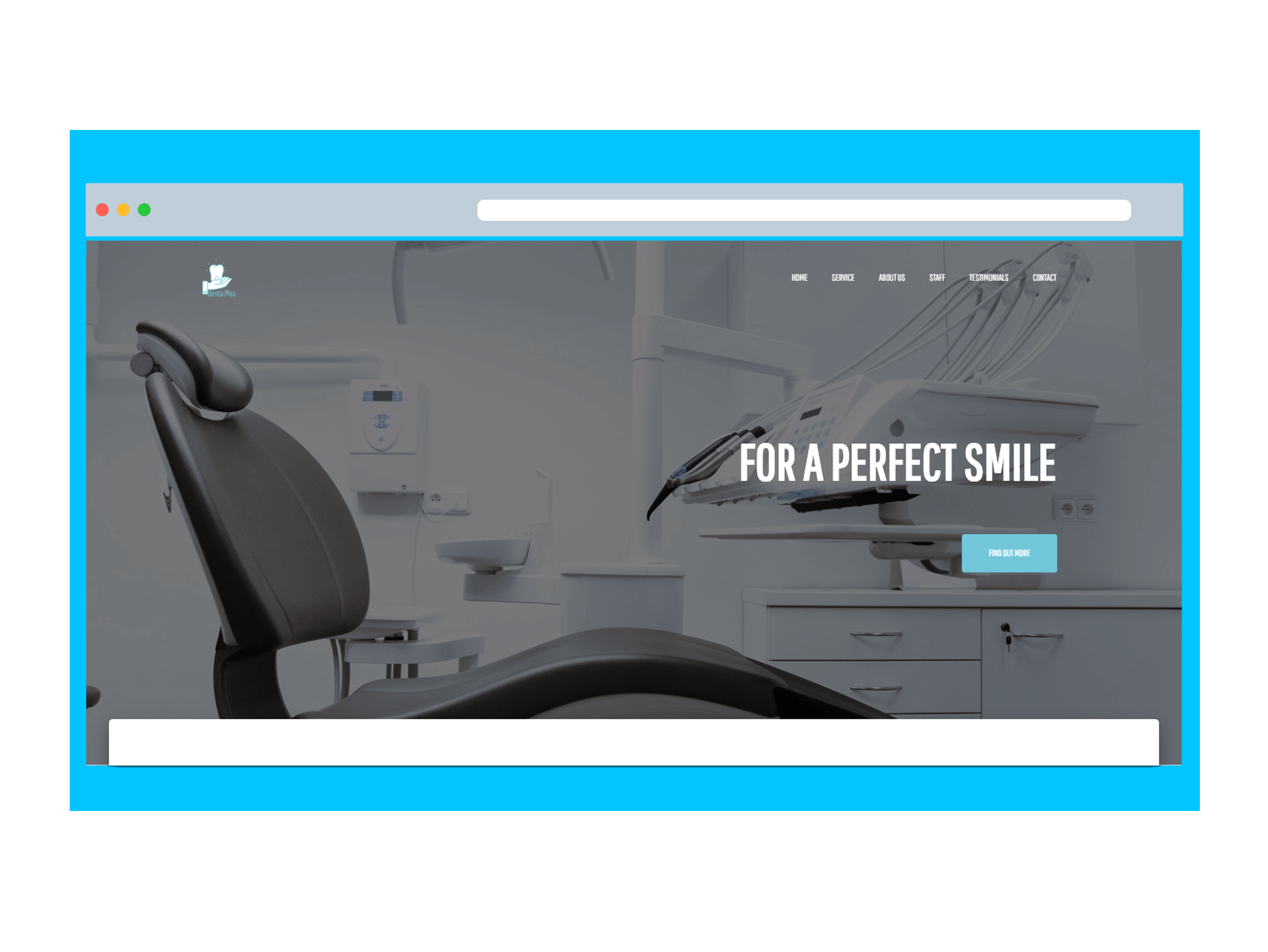 A website for a dentists office