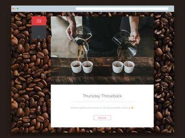 A website for a coffee shop