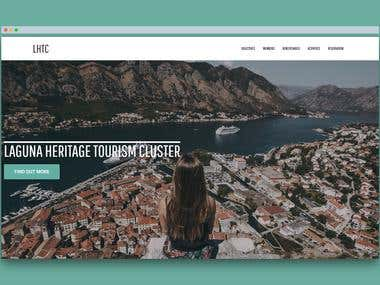 A website for a group of tourism-related service providers