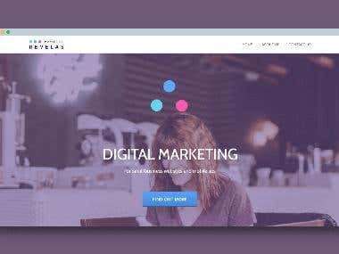 A marketing agency website