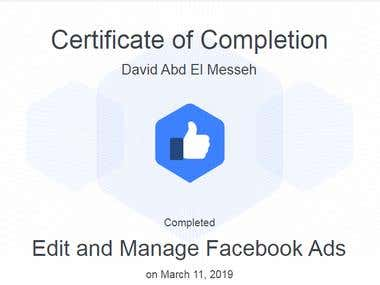 certificate of completion social media marketing course