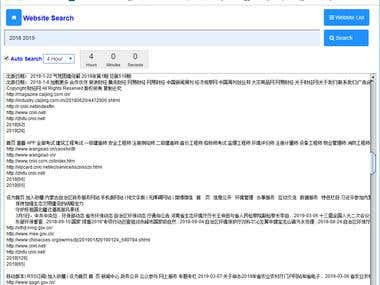 Keyword Search Engine, Website Crawler NLP-NLG location-wise