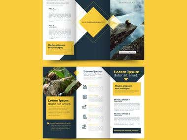trifold brochure.