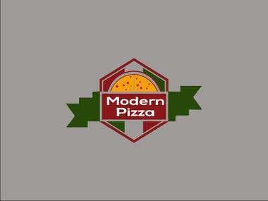 Modern Pizza Logo
