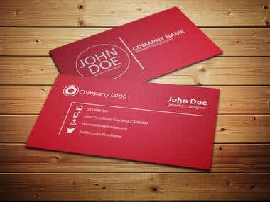 Simple Elegant Business card design