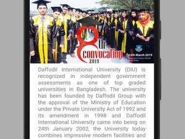 DIU Convocation App