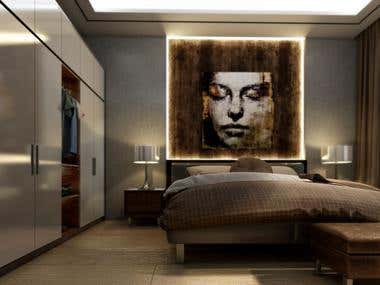 Architectural Bedroom Visualization