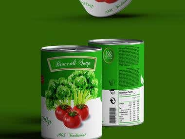 Broccoli Soup Packaging