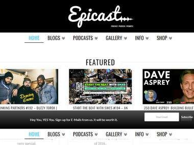 WordPress Podcast, Blog and Shop - Epicast Network