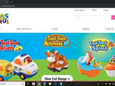 Ecommerce website https://www.toysfrus.com/