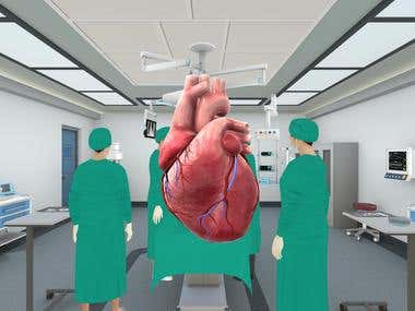 Medical Human Heart- 3D modelling, texturing, Zbrush, Maya