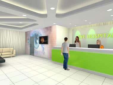Interior 3D Modelling, Texturing, Lighting.