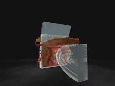 Medical human Eye details, 3D Modelling, Texturing.