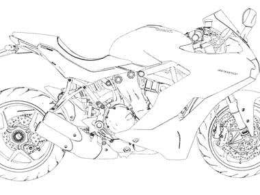 Ducati Supersport 939 Sketch