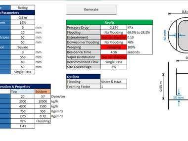 Excel VBA - Design of a Distillation Column