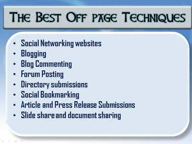 The Best Off page Techniques