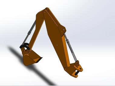 backhoe loader design with SolidWorks