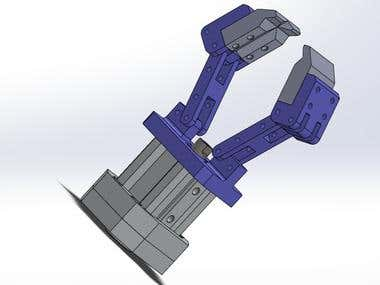 pneumatic clamp design with SolidWorks
