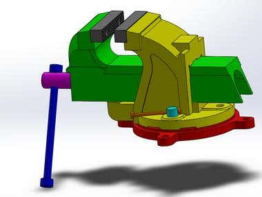 Vice Smooth Parallel Jaws design with SolidWorks