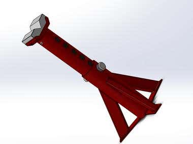axel support design with SolidWorks