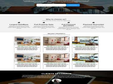 Landing page design for Rent Own Homes