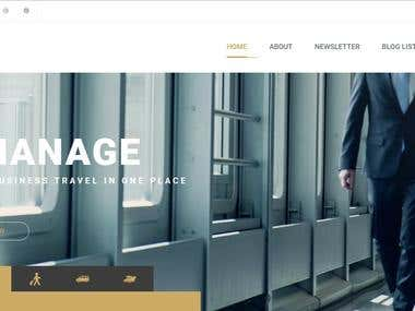 Business Travel Agency Website