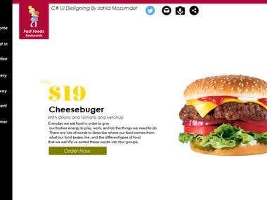 Fast Foods Items UI Design