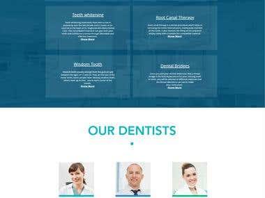 Designed and developed complete website.