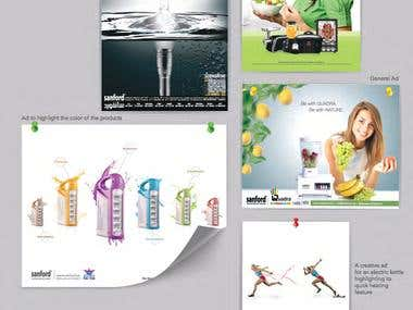 Digital ads and package designing