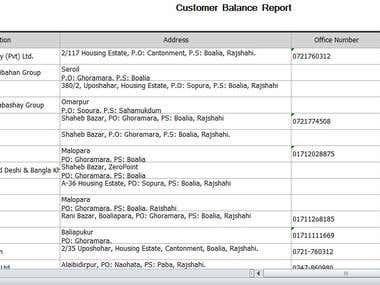 Customer Database Details