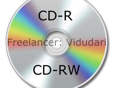 3 Images of CD-R, DVD-R and BD-R for website