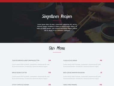 A website for restaurant