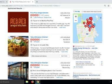 Restaurants information.