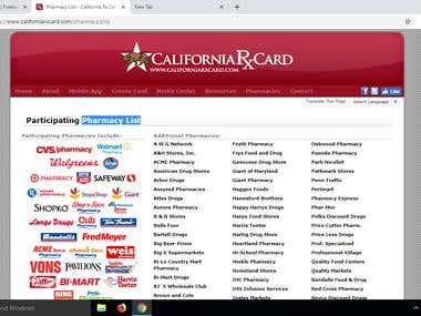 Pharmacy List of California