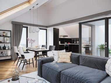 Interiors in the Scandinavian style